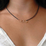 "small ""o"" trinity necklace"