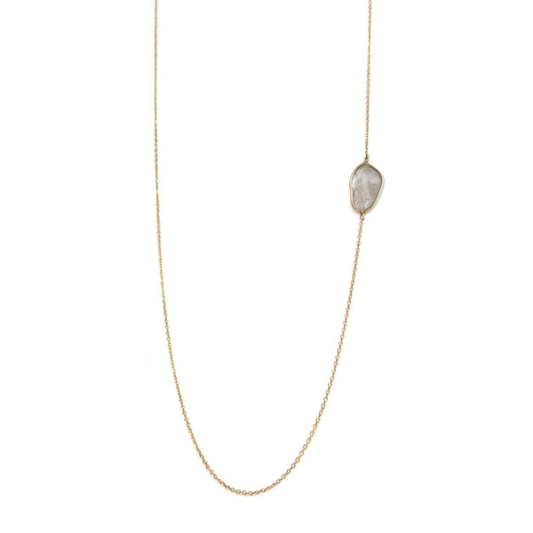 horizontal diamond slice necklace