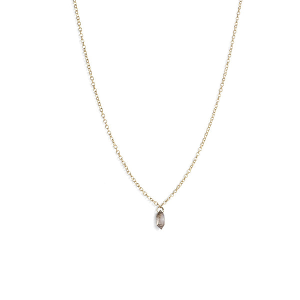 single diamond briolette necklace