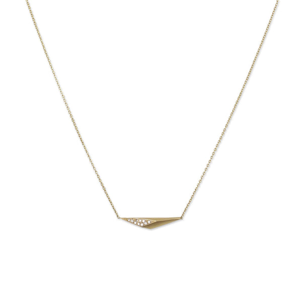 horizontal shard necklace