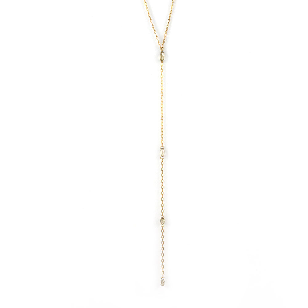 graduated briolette plunge necklace