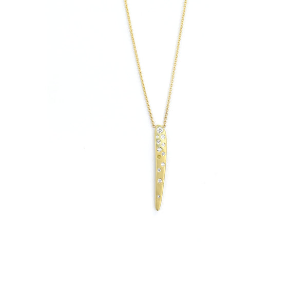 vertical diamond totem necklace