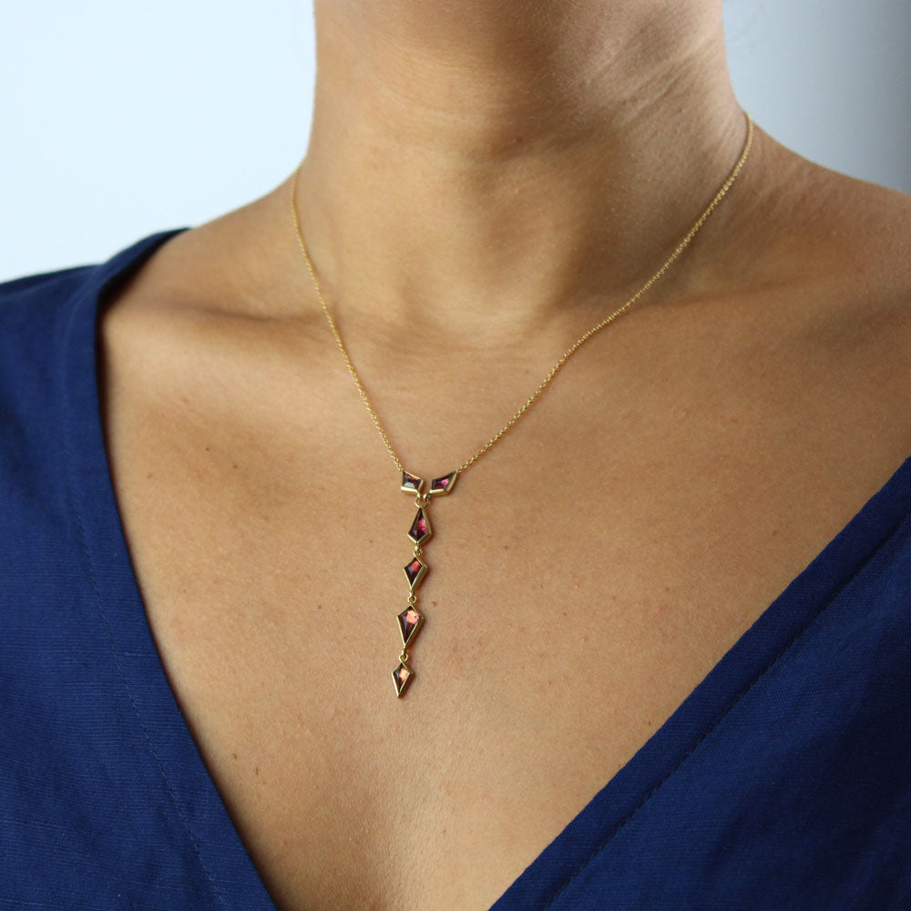 spinel cascade necklace