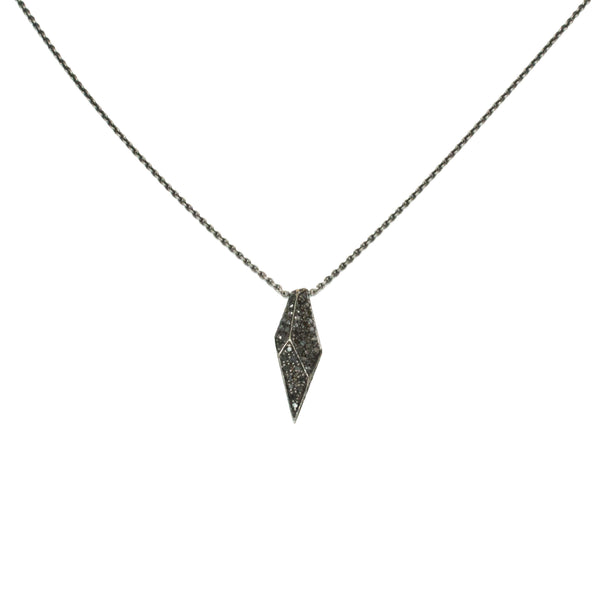 pave shard necklace