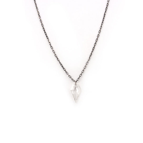 large diamond arrowhead necklace