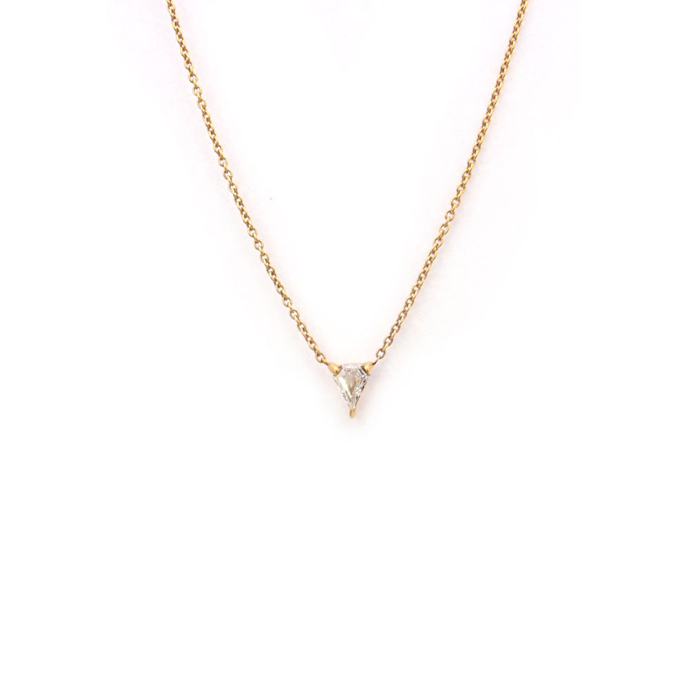 horizontal diamond shield necklace
