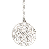 "sterling silver / 27"" silver chain arabesque medallion"