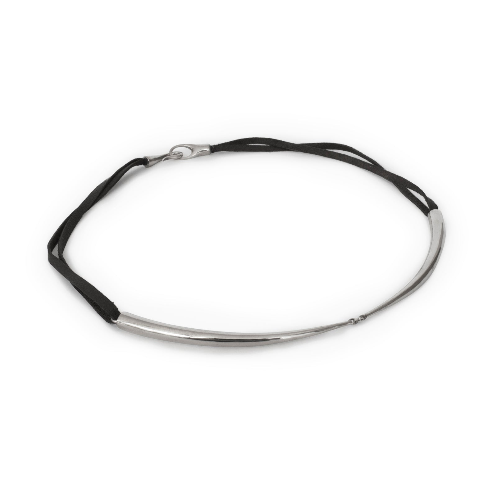 sterling silver plated in black rhodium arpent 1/2 choker