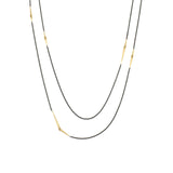 long mirrored points necklace