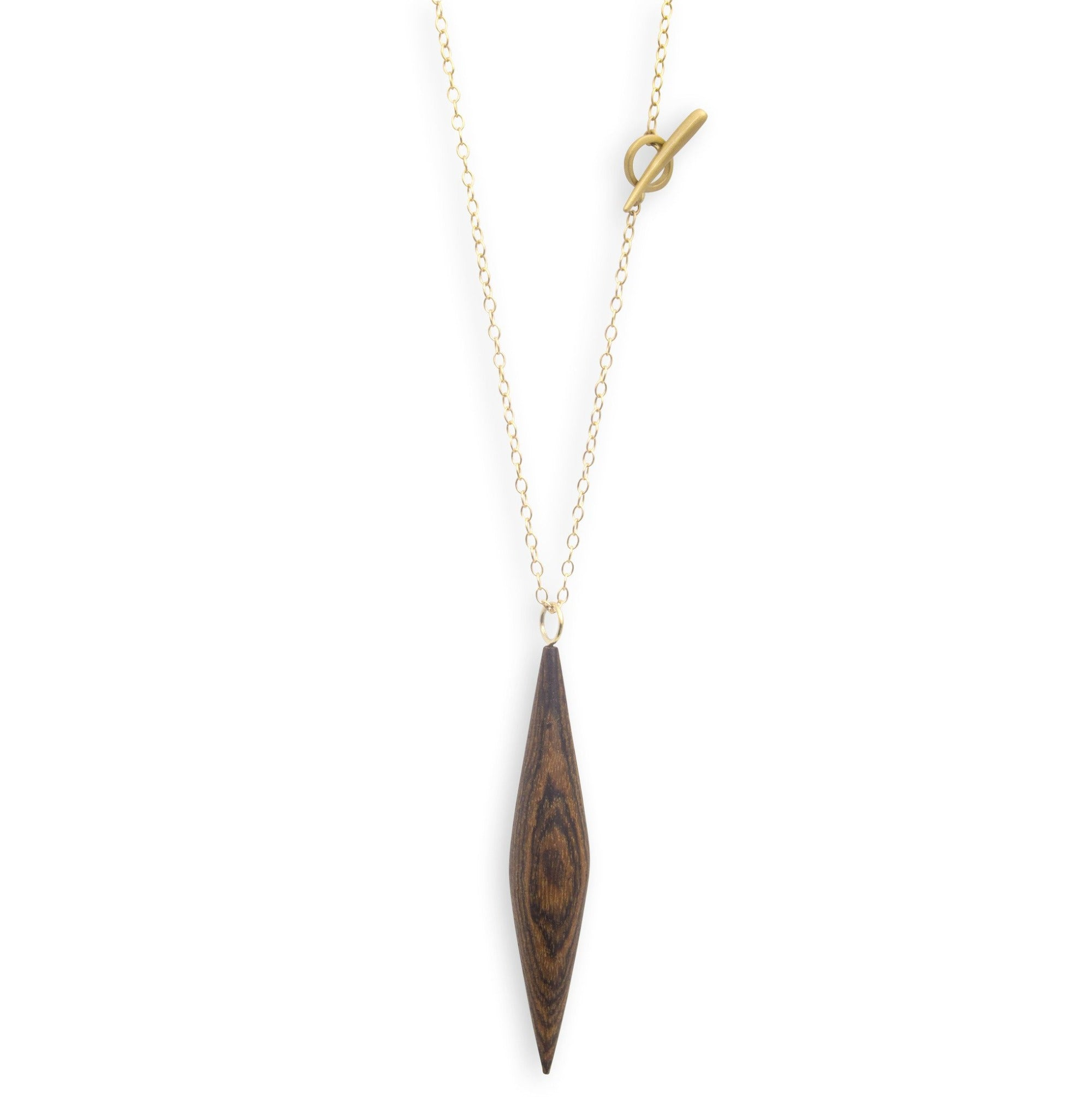bocote/bronze wood ficelle necklace