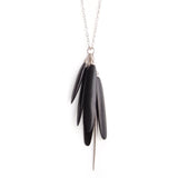 ebony/sterling silver wood tassle & spicula necklace