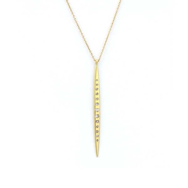 large diamond quill pendant, polly wales