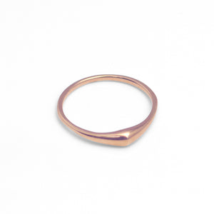 14k rose gold / matte / 5 swell stacking rings