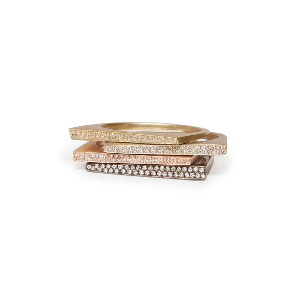 pavé shard stacking rings