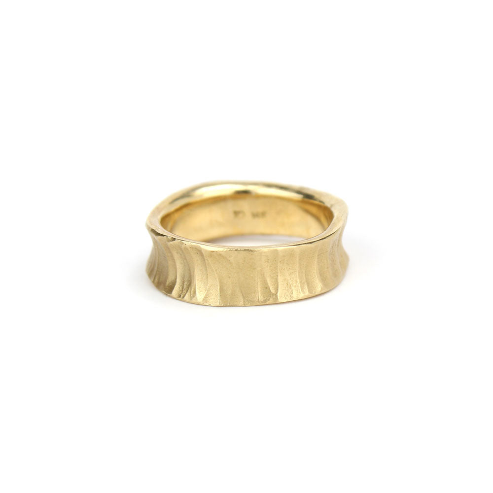 woman's concave ring, rebecca overmann
