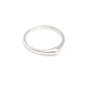 sterling silver / matte / 5 swell stacking rings