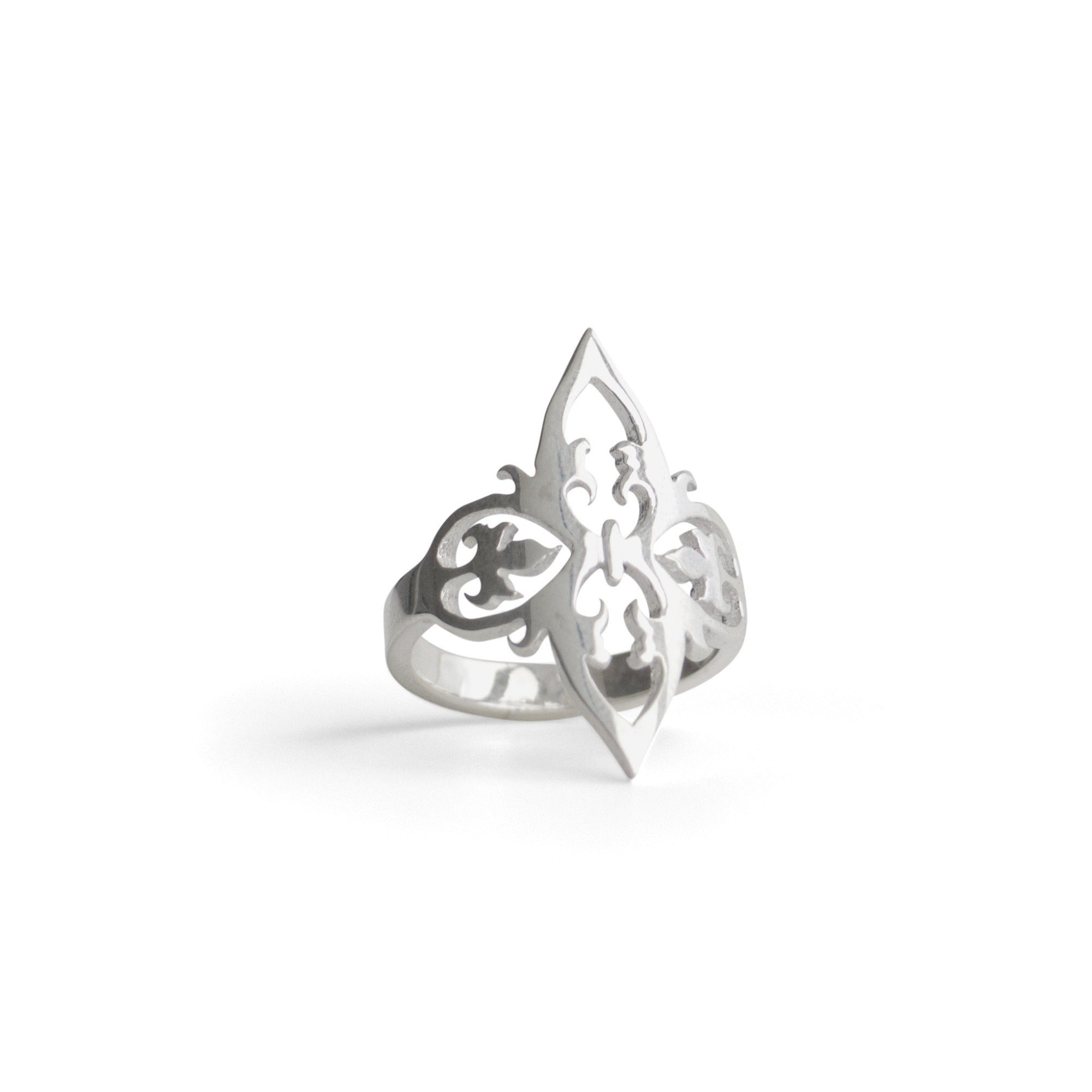 sterling silver / 5 arabesque cocktail ring