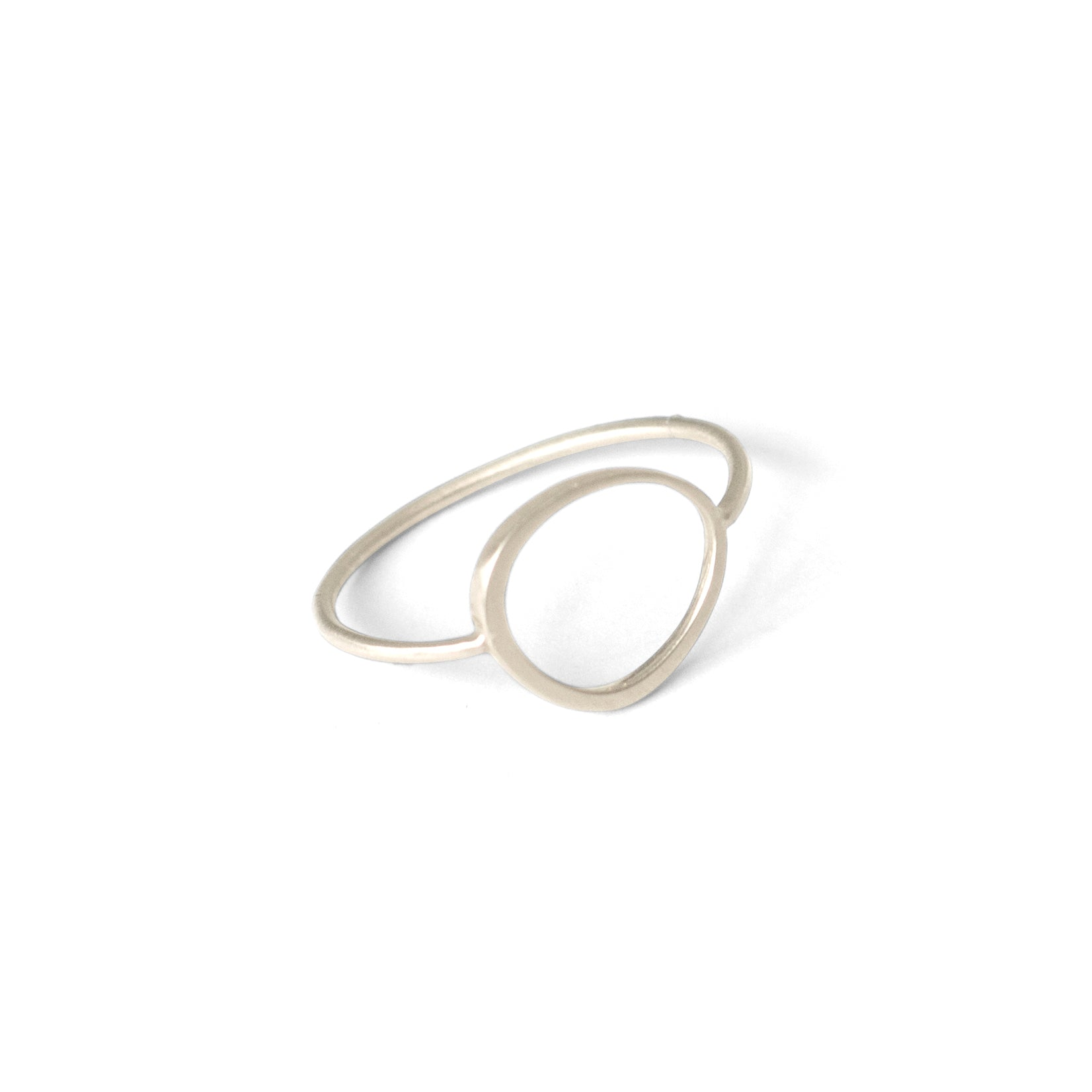 sterling silver / 6 offset circle ring
