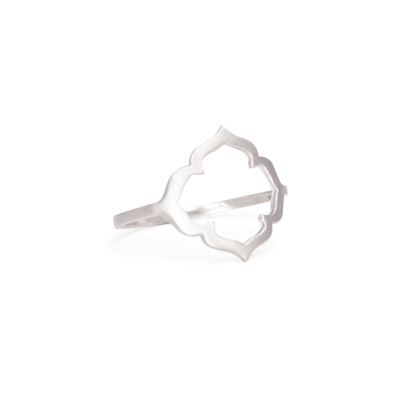 sterling silver / 5 clover ring