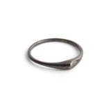 sterling silver plated in black rhodium / polished / 5 swell stacking rings