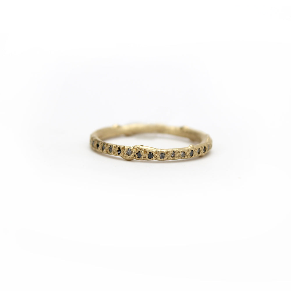 14 k gold with black and grey diamonds diamond eternity band, ruth tomlinson