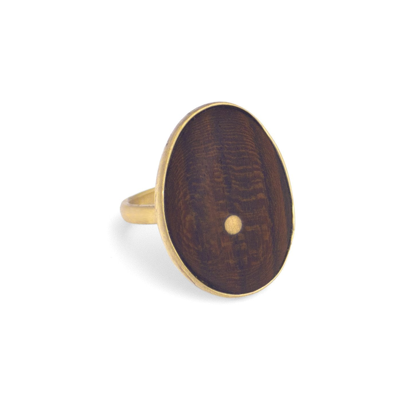 bocote/bronze / 7 oval wood inlay ring