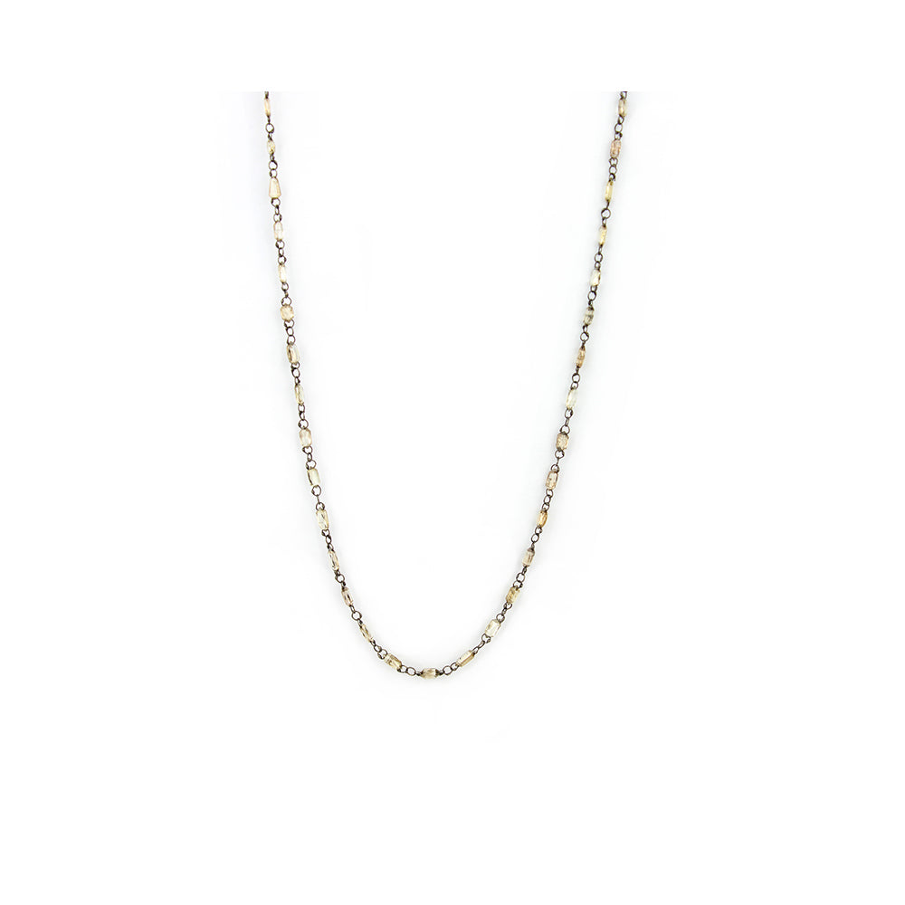 diamond briolette chain necklace