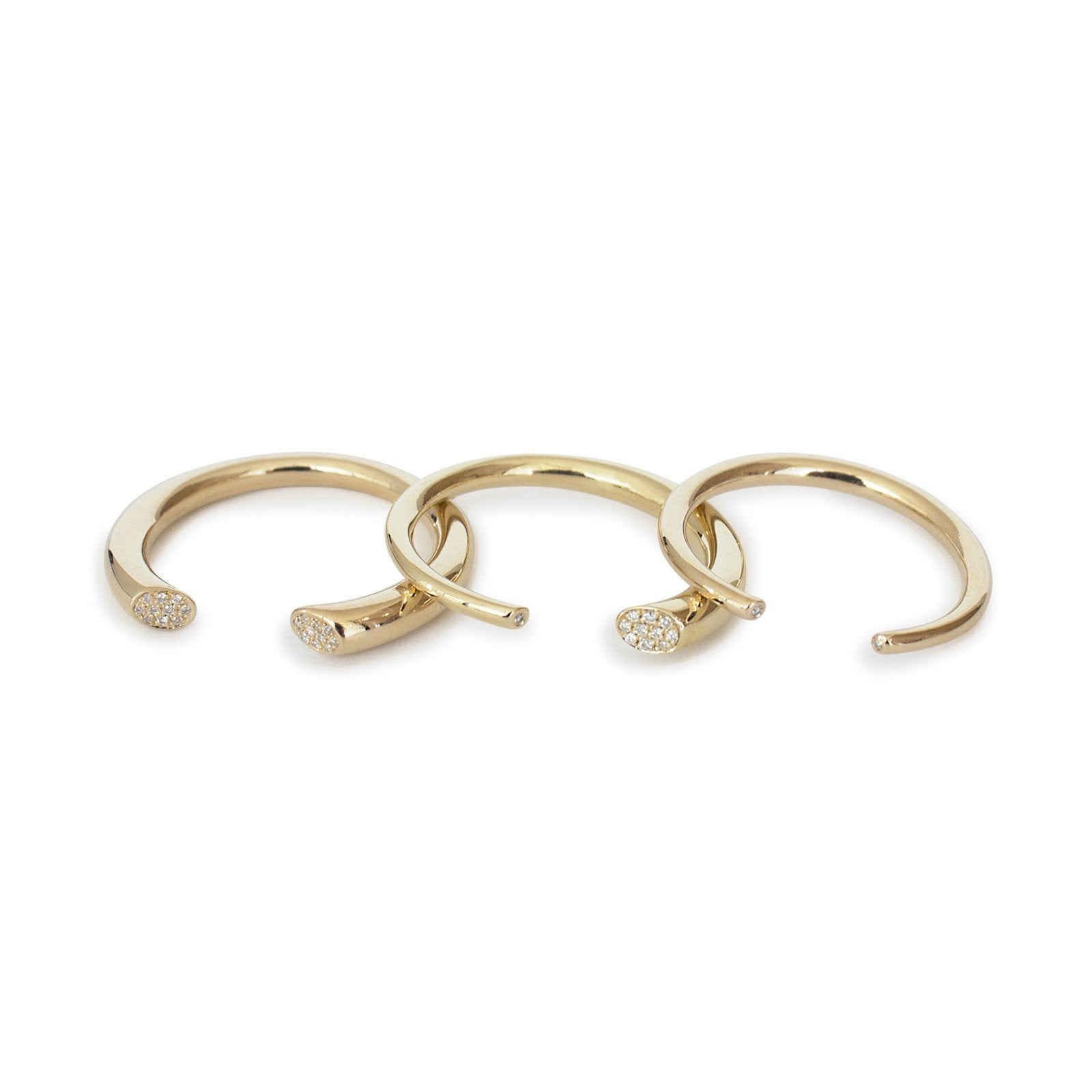 arpent stacking rings with diamonds