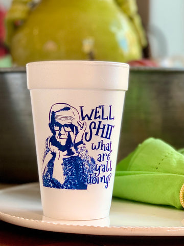 21st birthday Styrofoam Cups - sleeve of 10