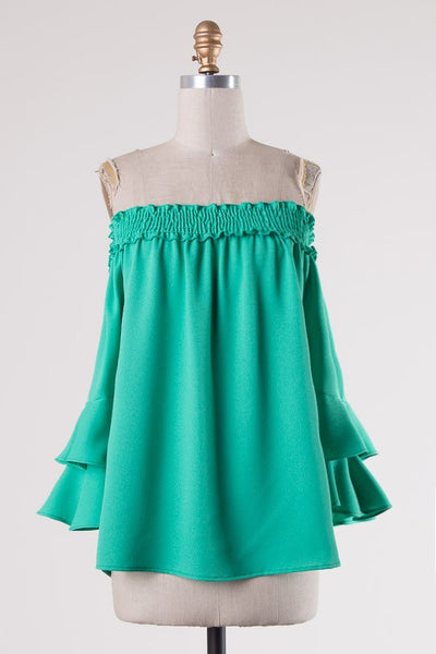 Romantic Top -Emerald