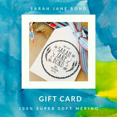 Sarah Jane Bond Gift Card
