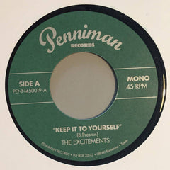 The Excitements ‎– Keep It To Yourself & Give It Back / Penniman Records - PENN450019