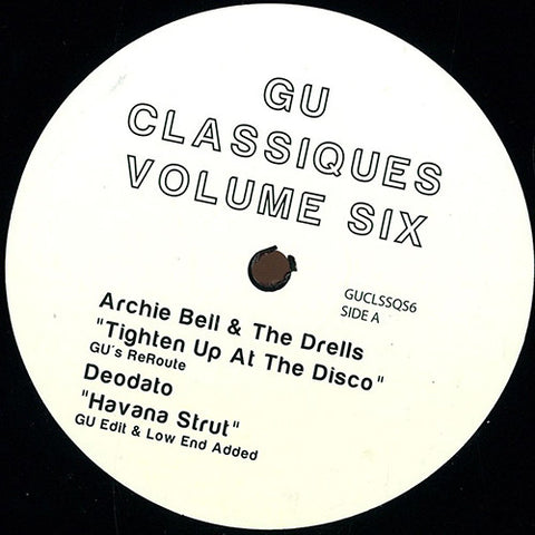 GU - Classiques Volume Six / Not On Label (Glenn Underground) ‎- GUCLSSQS6
