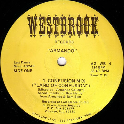 Armando ‎- Land Of Confusion / Westbrook Records ‎- AG-WB 4