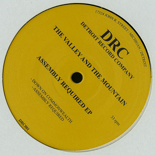 The Valley And The Mountain ‎- Assembly Required EP / Detroit Record Company ‎- DRC001