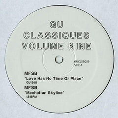 GU ‎- Classiques Volume Nine / Not On Label (Glenn Underground) ‎- GUCLSSQS9