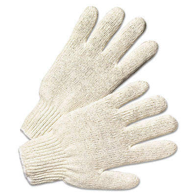 Anchor String Knit Gloves, Large, Natural White, 12 Pairs