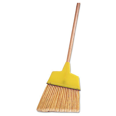 "Economical Angle Broom, Flagged Plastic Bristles, 7-1/2"" - 6"" Bristles, 54"" Length"
