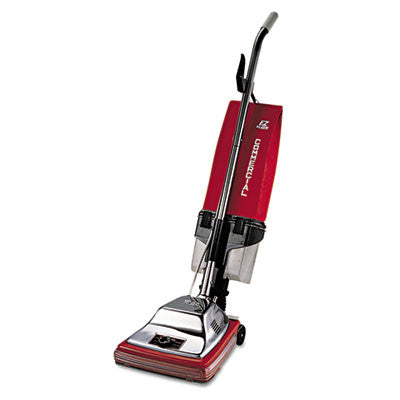 "Sanitaire Commercial Upright with EZ Kleen Dirt Cup, 7 Amp, 12"" Path, Red/Steel"