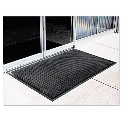 Crown-Tred Indoor/Outdoor Scraper Mat, Rubber, 35 1/2 x 59 1/2, Black