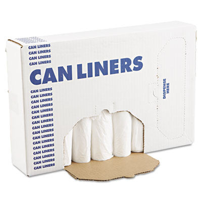 Can Liners, 24 x 32, 12-16gal, .4mil, White, 500/Case