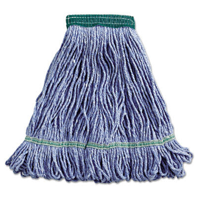 Super Loop Wet Mop Head, Cotton/Synthetic, Medium Size, Blue