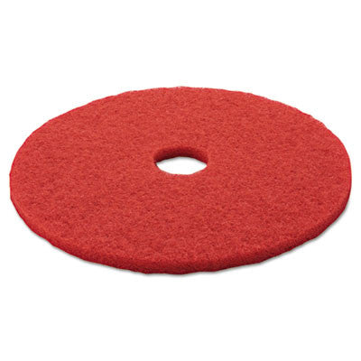 "3M Red Buffer Floor Pads 5100, Low-Speed, 20"", 5/Carton"