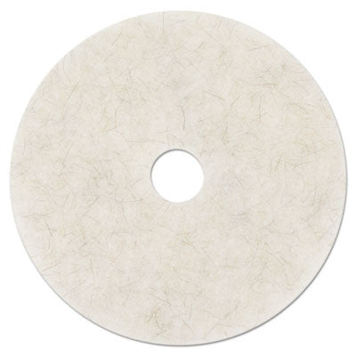 "3M Ultra High-Speed Natural Blend Floor Burnishing Pads 3300, 20"", White"