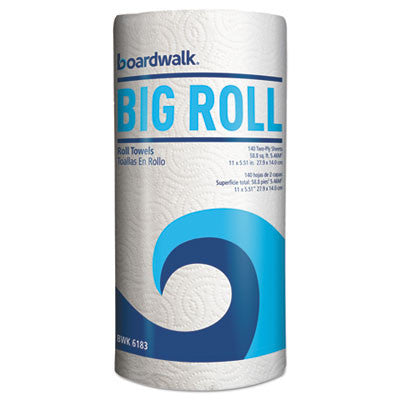 "Boardwalk Office Packs Perforated Paper Towel Rolls, 2-Ply, White, 5.5""x11"",140/Roll,12/Ct"
