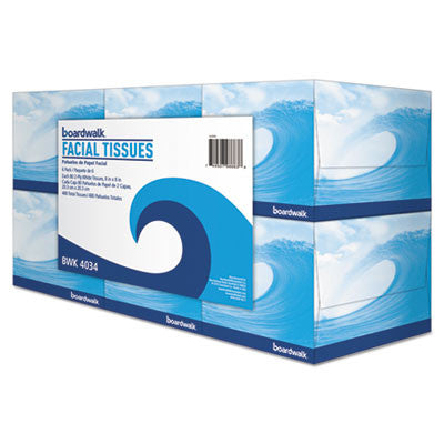 Boardwalk Office Packs Facial Tissue, 2-Ply, White, 80 Sheets/Box, 36 Boxes/Carton