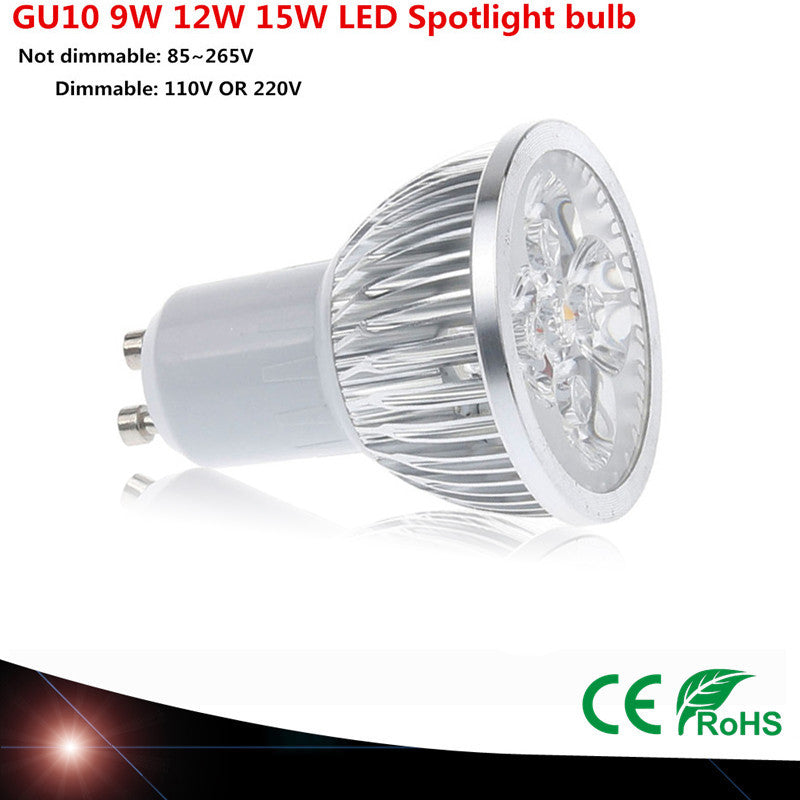 Dimmable Led Spotlights Warm/Natural/Cool White, Assorted Wattage