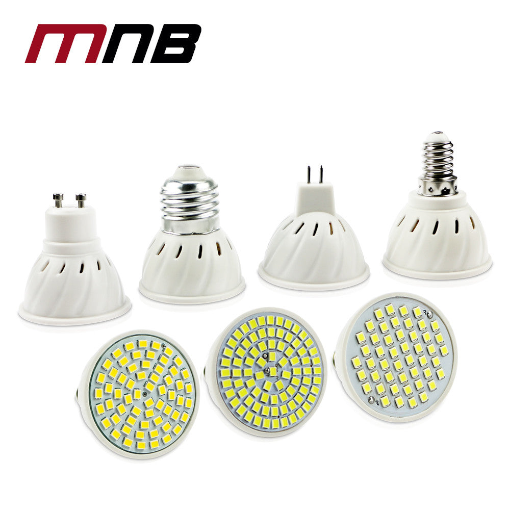E27  E14 MR16 GU10 Lampada LED Bulb 220V Bombillas LED Lamp Spotlight 48LED 60LED 80LED 2835 Lampara Spot cfl Grow Plant  Light