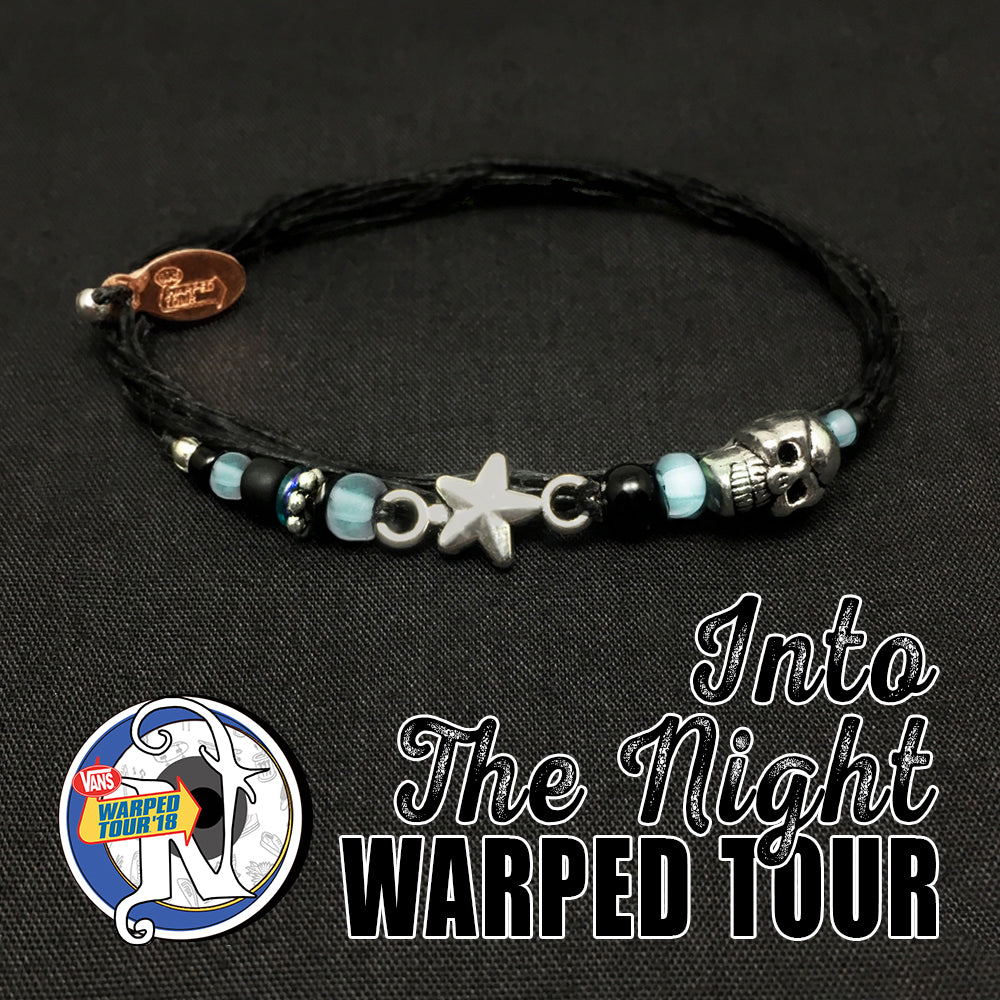 Silver Into the Night Glow-In-the-Dark NTIO Bracelet by Vans Warped Tour
