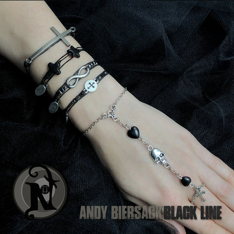 Andy Biersack Black Line 5 Bracelet Bundle